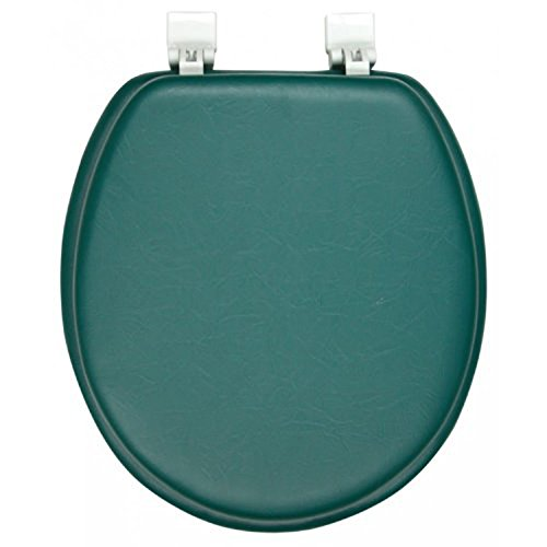 Ginsey Solid Hunter Green Padded Toilet Seat