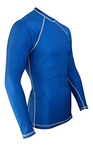 Rash Guard for Men Compression & Base Layer Shirt (Blue, 5XL) (Best Base For Mma)