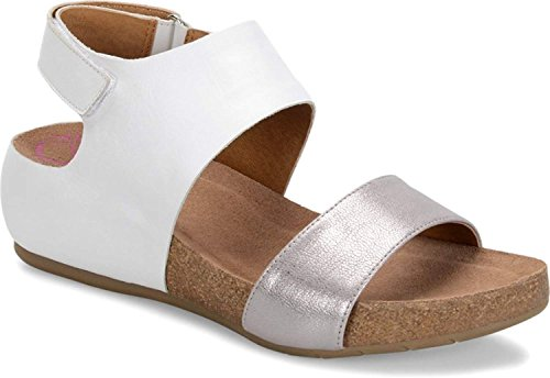 Comfortiva Womens 8335323 Open Toe Casual Slide, White/Anthracite, Size 7.5