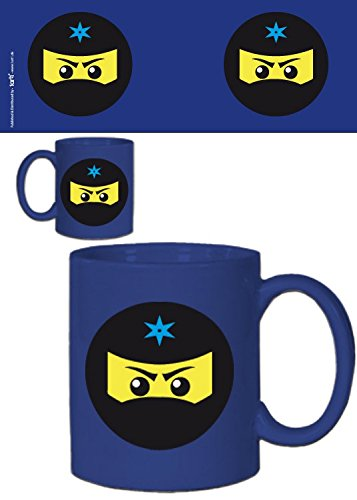 Amazon.com: 1art1 Gaming Photo Coffee Mug - Ninja Icon, Blue ...