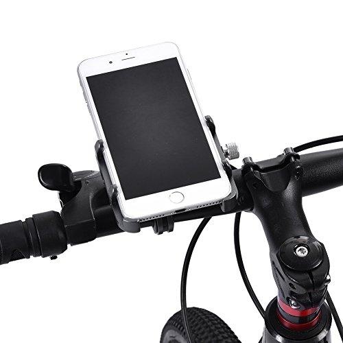 Mountainbike Road Fiets Motorbike Stuur Rotatie 360 Graden Mount Stand Mobiele Telefoon Houder (Titanium Kleur)