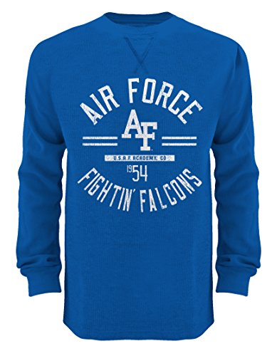 NCAA Air Force Falcons Men's Big Thermal Crew Shirts, 3X-Large, Royal (International Thermal)