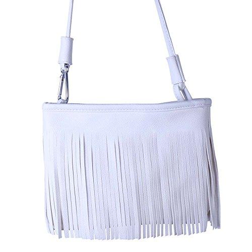 Cross Body Bag Cross White White Cross Bag Fringed Body White Fringed Body Fringed Bag wPXqACF