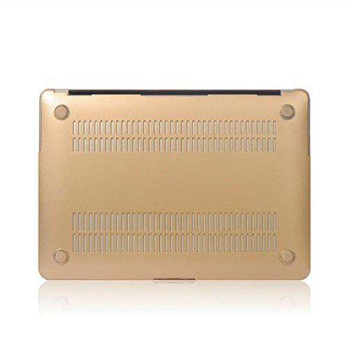 YiJee Funda Rígida para Macbook Pro Retina 11.6 -15.4 Pulgadas Protector de Plástico Protector Shell para el Portátil Mac Book 15.4re Inch Oro
