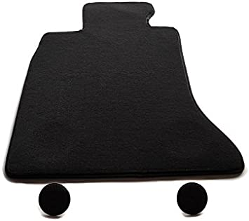Fußmatte Fahrermatte 5er F10 F11 Velours Automatte Original Qualität Fahrerseite Vorn Schwarz Inkl Befestigung Auto