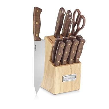 Cuisinart Advantage 14-Piece Triple Rivet Walnut Block Set
