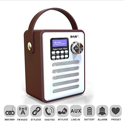 yunbox299 Portable DAB/DAB+ Tuner Digital Radio Receiver Bluetooth FM Aux-in MP3 Player Hands-Free Call