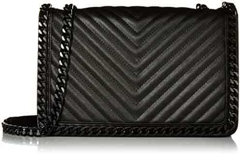 Aldo Women's Crossbody Bag with Chain Detail, Greenwald in Black