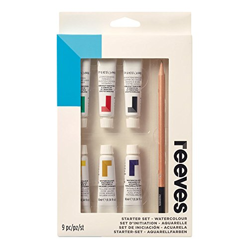 (Reeves Water-Colour Paint, Starter Set - 9-Piece)