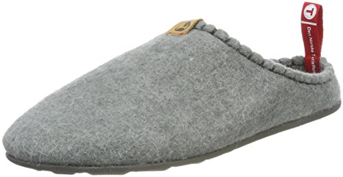 Viking Unisex Adults' Dnt Toffel Open Back Slippers Grey (Lightgrey 89)