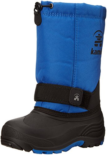 Kamik Boys' Rocketwide Snow Boot, Blue, 10 Wide US Toddler