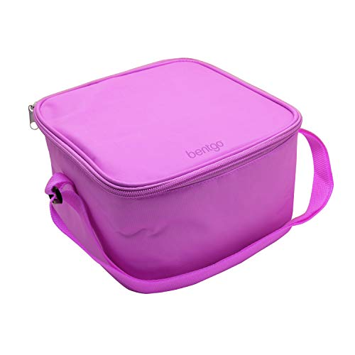 Bentgo Bag (Purple) - Insulated Lunch Bag Keeps Food Cold On the Go - Fits the Bentgo Classic Lunch Box, Bentgo Cup, Bentgo Sauce Dippers and an Ice Pack - Also Works For Other Food Storage Containers (Lunch Box With Ice Pack Built In Uk)