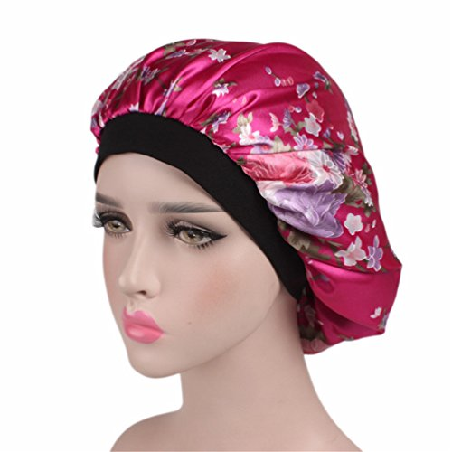 Bonnet Sleeping Cap Chemo Hat - Floral Women Wide Band Salon Satin Sleep Slouch Slouchy For Summer silk hair scarf for Long Curly Natural Tifara Beauty Curling Rods Lottabody Wrap Me Foaming Mousse Lottabody Wrap
