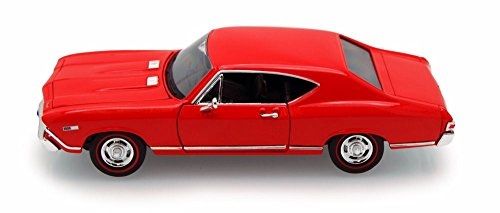 Welly 1968 Chevy Chevelle SS396 1/24 Scale Diecast Model Car Red ()