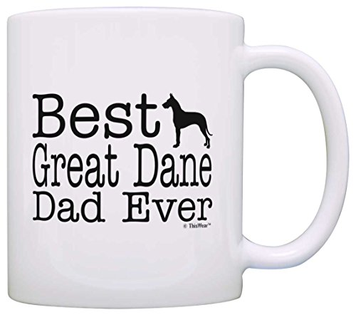 Dog Lover Gifts Best Great Dane Dad Ever Pet Owner Rescue Gift Coffee Mug Tea Cup White ()