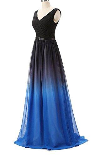 Senza maniche Donna V Blau a Vestito linea ad Bridal Mall wXqaYf