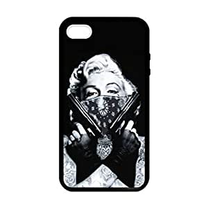 Marilyn Monroe Gangster Pattern Image Case Cover Hard Plastic Case Iphone 4s / Iphone for Iphone 4 4s