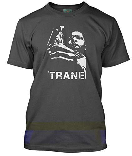 John Coltrane Inspired, Men's T-Shirt, Medium, Charcoal ()
