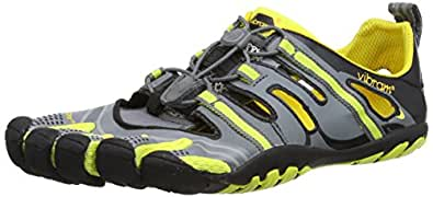 Vibram Fivefingers Treksport Sandal - Men's Grey/Yellow/Black 40 M EU