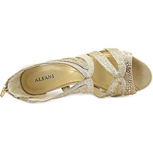 Alfani Cymball Donna Open Toe Sandali In Tela Champagne