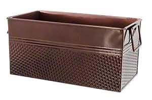 "American Metalcraft (BEVC1266) 12-1/4"" x 6-1/4"" Third Size Copper Rectangular Beverage Tub"