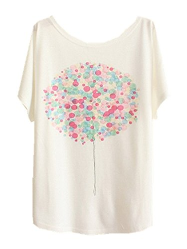 Tees 9 YICHUN Wear Sleeve Printed Thin Girls Tunic Tops Batwing Women Dandelion Summer T Shirt Casual BBHAqznZ