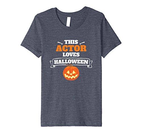 Kids Actor Loves Halloween T-Shirt - Jack-o-lantern Pumpk...