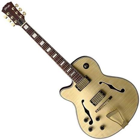 Stagg Guitarra eléctrica de jazz, a350lh, natural: Amazon.es ...