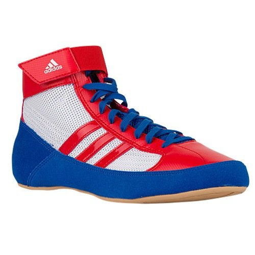 adidas Mens HVC Fabric Low Top Lace Up Running, Blue/Red/White, Size 10.5