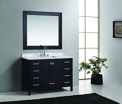 (Design Element London Single Sink Vanity Set, 48-Inch, Espresso Finish)