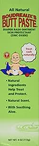 Boudreaux's Butt Paste Diaper Rash Ointment Natural -- 4 oz (Quantity of 3)