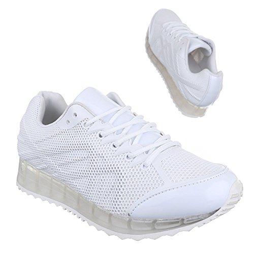 Ital-Design - zapatos de tiempo libre Mujer Blanco - blanco
