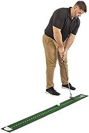 IZZO Tapete de golfe de 15 x 15 cm com Putt Mirror e Putt Cup – Tapete de feltro verde com Putt Mirror Trainin