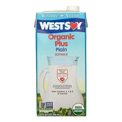 westsoy orgánico Plus Plain Leche de soja – -32 fl oz ...