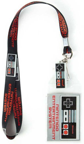 Nintendo NES Controller Lanyard with Rubber Charm