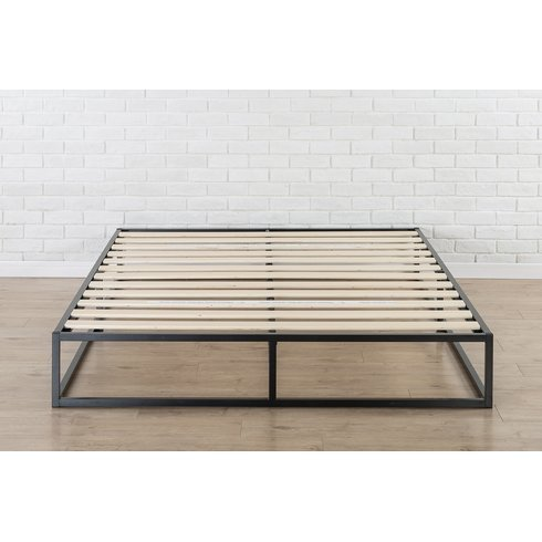 Bemott Modern Style Bed Frame with Wooden Slats (Weight Capacity: 544 Kilogram, Assembly Required) (Single)