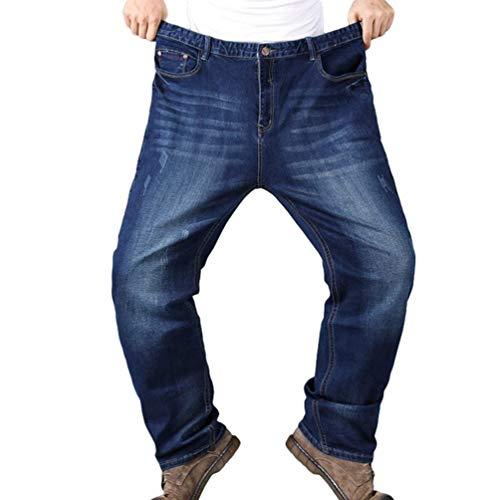 ADELINA Pantalones Vaqueros Ufig De Los Mezclilla Hombres Retro De Pantalones Ropa Flojos Básicos Gruesos Pantalones Rectos De Pierna Recta Pantalones Vaqueros Pantalones Casuales Dunkelblau