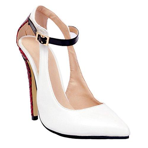 white Slippers femme Hi Top Kolnoo wFZq677