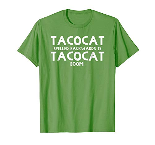 Mens TacoCat Spelled Backwards Funny Taco Cat Awesome Shirt Small Grass for $<!--$16.99-->