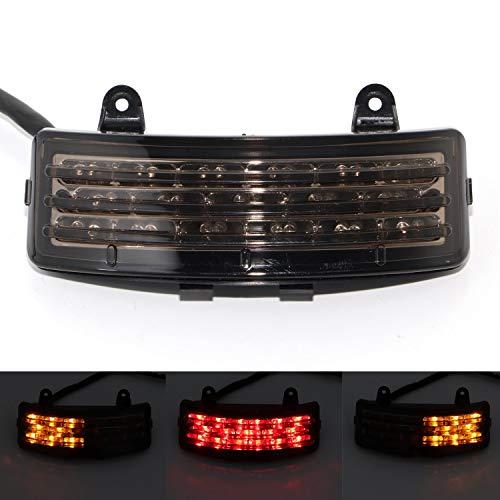 Senkauto Tri-Bar Rear Fender LED Brake Tail Light Stop Turn Signal Lamp For Harley Touring Street Glide FLHX