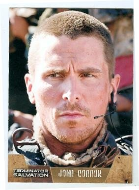 (Christian Bale trading card Terminator Salvation 2009 Topps #2 John Connor)