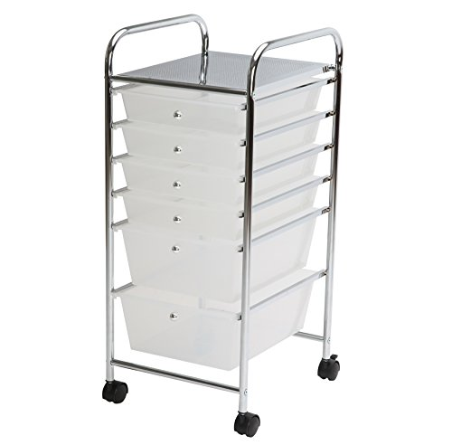finnhomy 6drawer rolling cart organizer storage cart with drawers utility cart ebay. Black Bedroom Furniture Sets. Home Design Ideas