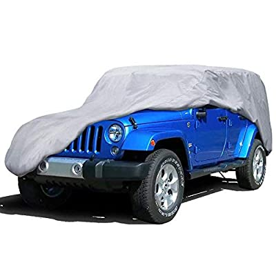 Yihu Outdoor Cover for Jeep Wrangler 4 Door, All Weather Water Proof Useful