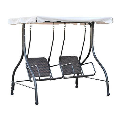 Outsunny 2 Person Outdoor Garden Swing with Canopy