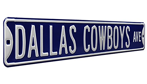 Fremont Die NFL Dallas Cowboys Navy Metal Wall Décor- Large, Heavy Duty Steel Street Sign
