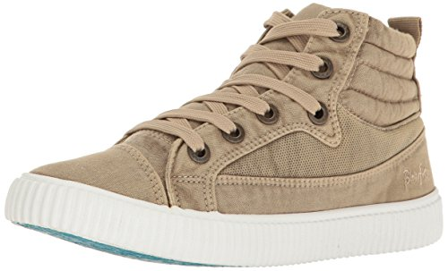 Blowfish Women's Crawler Fashion Sneaker, Natural Color Washed Canvas, 7 M US