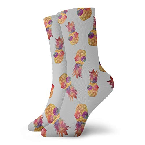 (Womens Art Socks for Dress Decor, Unisex Soft And Breathable Funny Fashion Design Socks Glasses Pineapple for Exercise Business And Casual Occasions)