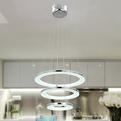 UNITARY BRAND Modern Warm White LED Acrylic Pendant Light