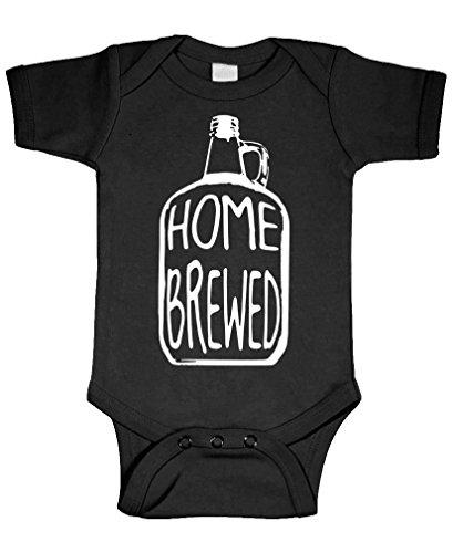 Home Brewed - Wine Beer Brew Craft - Cotton Infant Bodysuit, 6m, Black