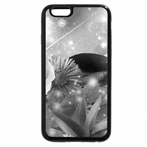 iPhone 6S Case, iPhone 6 Case (Black & White) - Flowers of Colors